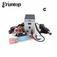 Бессвинцовая паяльная станция Eruntop 858D светодиодный цифровая паяльная станция BGA Rework паяльная станция горячий воздушный пистолет