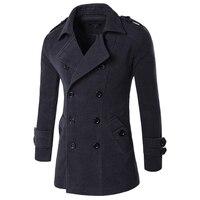 2018 куртка осень-зима Для мужчин бушлат Для мужчин s куртки и пальто мужской брендовая одежда Chaqueta Hombre шерсть и смеси Для мужчин Тренч M-XXL