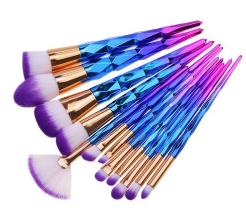Makeup Brushes 7/12pcs Thread Rainbow Professional Make Up Brush Set Blending Powder Foundation Eyebrow Eye Contour Brush 4