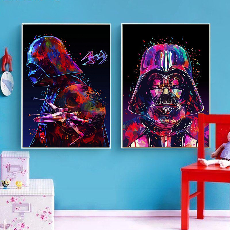 Needle Arts Craft Diy Full Round Kids Movies Diamond Embroidery Painting Rhinestones Kit Darth Vader Star Wars Mosaic Hobby Gift in Diamond Painting Cross Stitch from Home Garden