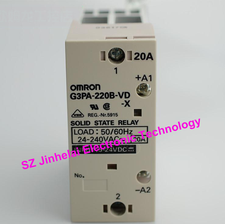 цена на Authentic original G3PA-220B-VD-X OMRON Guide rail type solid state relay 20A 5-24VDC DC5-24V