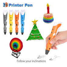 2017 New DIY 3D Pen Drawing Pens 3D Printing Best creative gift for Kids with ABS/PLA Filament 1.75mm Christmas Birthday gift