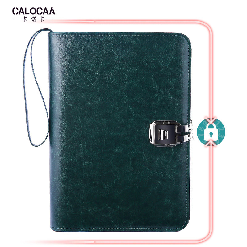 Multifunction Leather Business Notebook A5 Binder Spiral Diary Journal Planner Agenda Storage Zipper Password Work Note BookMultifunction Leather Business Notebook A5 Binder Spiral Diary Journal Planner Agenda Storage Zipper Password Work Note Book