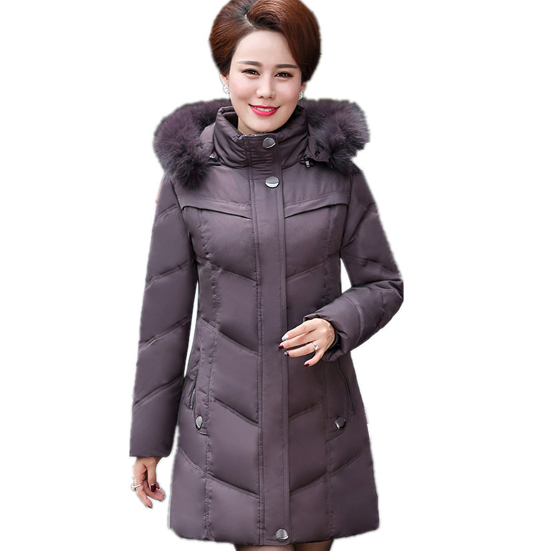 Thick Down Cotton Winter Large Size Fur Hooded 6XL Winter Jacket Women Warm Padded Overcoat Loose Parka Winter Jacket TT3300 women parka winter jacket plus size 2017 down cotton padded coat loose fur collar hooded thick warm long overcoat female qw670