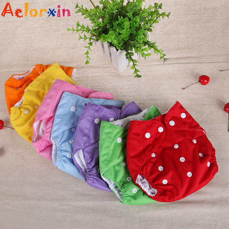 1Pcs Cotton Reusable Nappies Soft Covers Baby Cloth Diapers Adjustable Training Pants Waterproof Cloth Diaper Nappy Changing