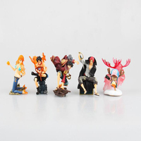 One Piece anime model figures Ace Luffy Chopper Nami 5pcs/set collection figurine decoration toy gift cartoon T7856