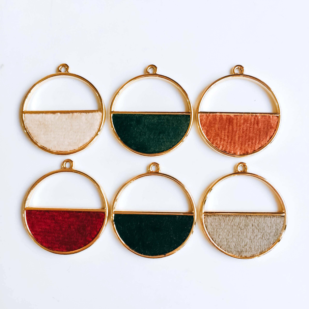 Round Wool Stuff Spacer Accessories Pendant Necklace Supplies For Jewelry Making Earring Accessories Components 4pcs KP1972