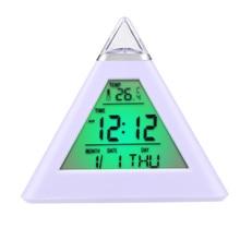 1pc Pro Creative Smart Clock LED Snooze Alarm Calendar Temperature Living Room Lights Hot Nice