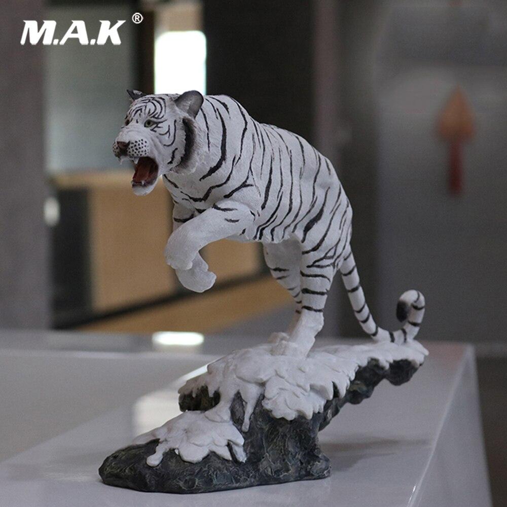 1/10 échelle 27 cm Figure accessoire neige tigre blanc Simulation nord-est tigre décoration artisanat modèle jouets en boîte pour Fans cadeaux
