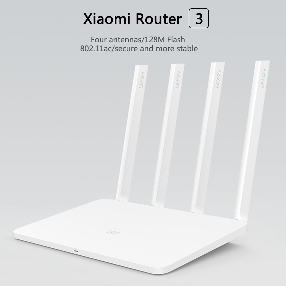 Xiaomi WiFi Router 3 inglés la versión de Firmware 2,4g/5 GHz WiFi repetidor 128 MB APP Wi-Fi 1167 Mbps