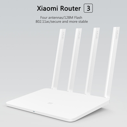 Xiaomi WiFi Router 3 English Firmware Version 2.4G/5GHz WiFi Repeater 128MB APP Wi-Fi 1167Mbps