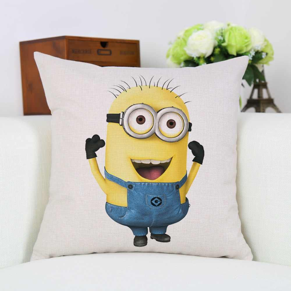 Square Decorative Cartoon Minions Throw Pillow Case Cover Pillowcase For House Decorative Cushion Cover New