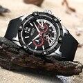 MEGIR Роскошные повседневные мужские часы Военные Спортивные Мужские наручные часы Дата кварцевые Силиконовые часы хронограф Mannens Saat Relojes