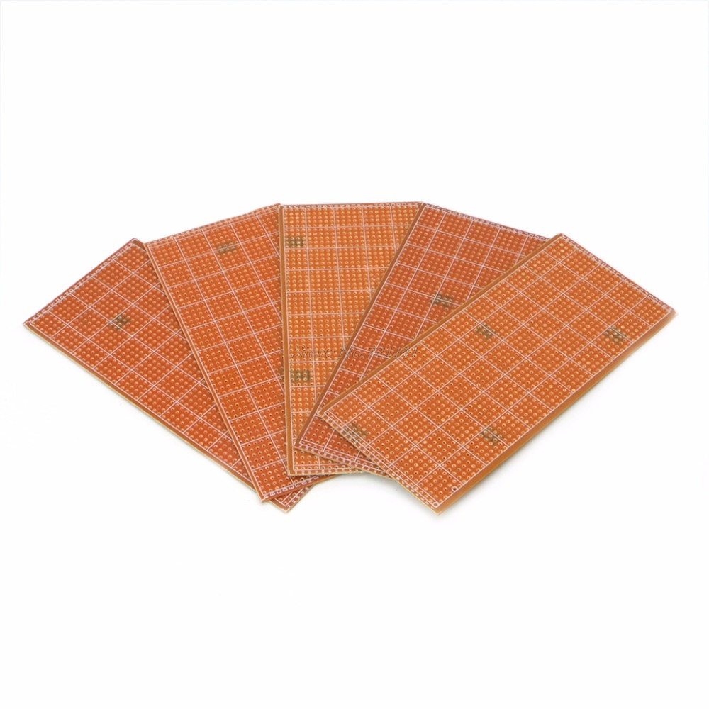 5 Pcs 6.5x14.5cm Stripboard Veroboard Prototype Printed Circuit Uncut PCB Platine Single Side Circuit Board Dropship