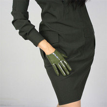 Fashionable Short Style Patent Leather Womans Gloves Faux Genuine PU 16cm Female Mittens P51