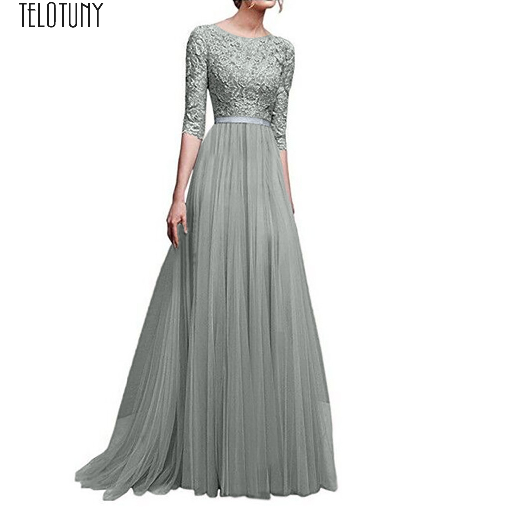 TELOTUNY Lady Dress Women Formal Wedding Bridesmaid Long Evening Party Prom Ball Gown Cocktail Dress Women Dress Fashion Jan22