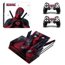 Deadpool Vinyl Skin Sticker Voor Sony PS4 Pro Console En 2 Controllers Sticker Cover Game Accessoires