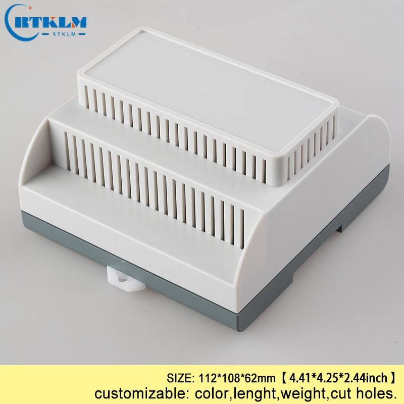 Din-рейку пластиковый корпус 112*108*62 мм небольшие электронные шкафы abs схема пластиковые окна управления коммутатор PLC box