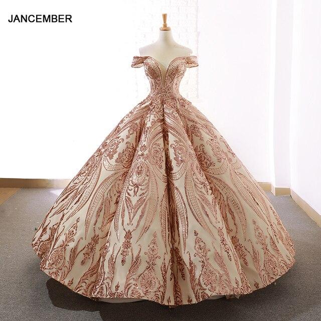 J66661 Jancember robes de bal femmes Quinceanera robes 2020 chérie hors de lépaule motif à lacets