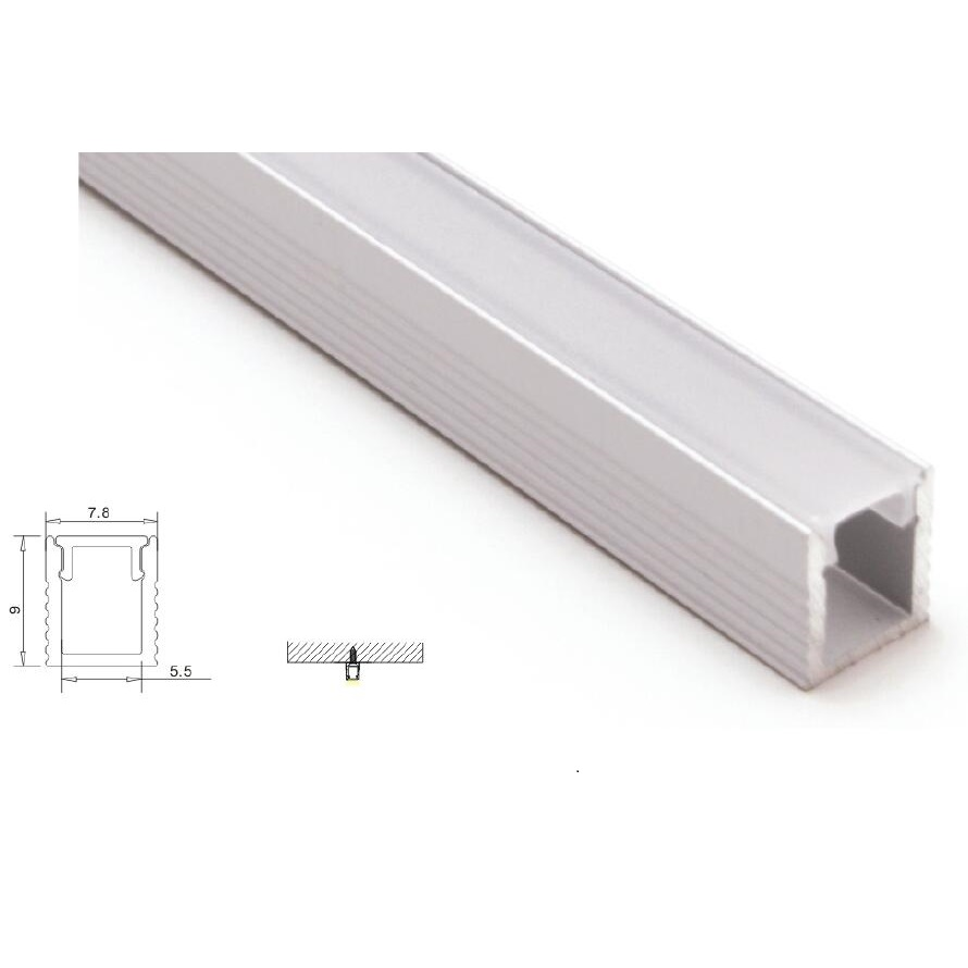 Us 52 0 10pcs X 1m Mini Led Aluminium Channel Extrusion With Pc Diffuser Cover For 5mm Strip Light Lication Sdw005 In Bar Lights From