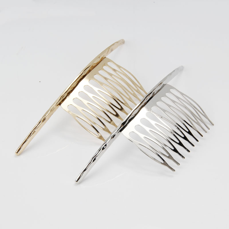 Haimeikang Curved Personalized Hair Comb Pins Jewelry Accessories Women Metal Gold Silver Clip Combs Headdress In From S