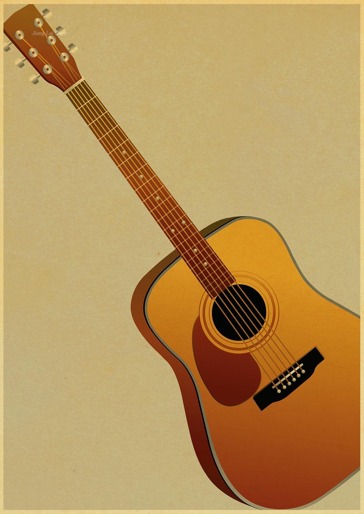 Contemporary Acoustic Guitar Wall Decorations Festooning - Wall Art ...