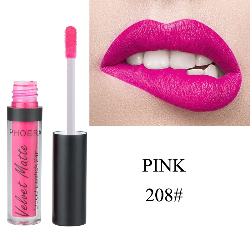 Waterproof Lip Gloss Long Lasting Ultra Velvety Matte Finish Paste Smoothly Beauty Lipstick Non Stick Cup Highly Pigmented Lip 5