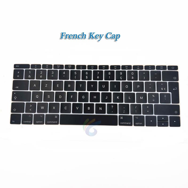 """A1708 клавишная крышка с белым зажимом для Macbook Pro 1"""" retina Key cap US/UK/французский/испанский/немецкий/японский/итальянский/Корейский - Цвет: French key cap"""