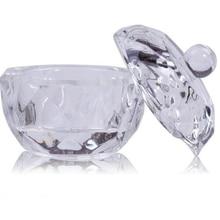 1 шт. стеклянная Хрустальная чаша чашка Dappen Блюдо акриловый прозрачный акриловый Q-tip держатель для хранения коробка косметический чехол для макияжа