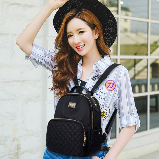 Female Backpack Preppy Style Nylon Women Backpack High Qulaity Shoulder Bags Student Bag Black Backpack A2217 1