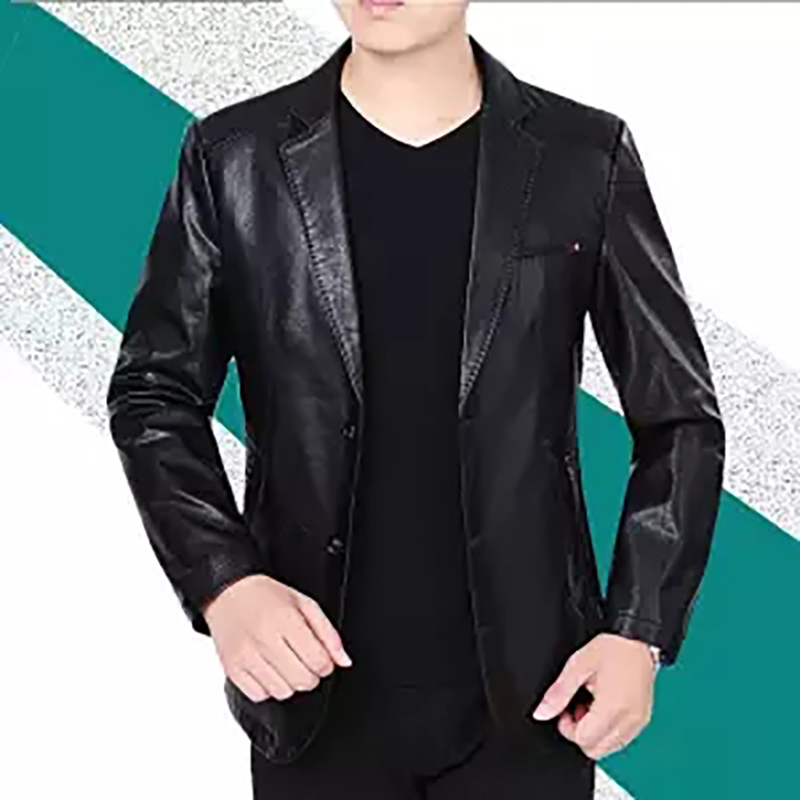 Biker Coats Jackets Motorcycle Genuine Summer Spring Velvet M-4XL Men's
