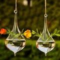 Clear Water Drop Glass Hanging Vase Bottle Terrarium Hydroponic Plant Flower DIY Table Wedding Garden Decor