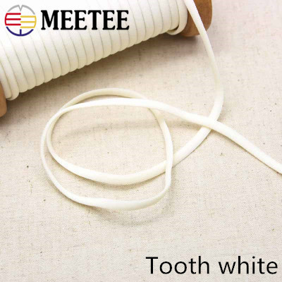 Meetee 23yards 5mm Rope Elastic Band Rope Ribbon Shoulder Strap Belt Hair Band Baby Hair Ring Shoes DIY Handmade Accessory BD393