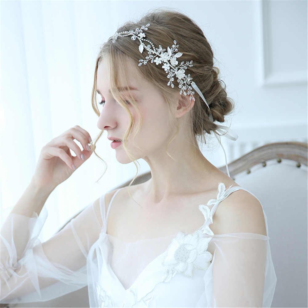 Rose Gold Bridal Headpiece Tie-on Crystal Headband Rose Gold Crystal Bridal Headband hair vine Crystal Bridal Tiara Vintage headpiece
