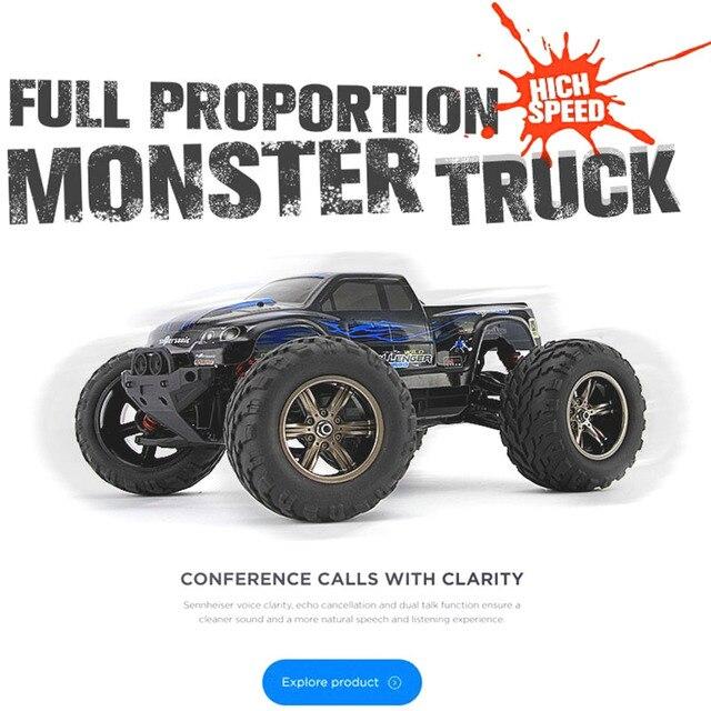 9115 RC Автомобилей 2.4 Г 1/12 Шкала 40 Км/ч RC Щеткой Monster Truck Внедорожник РТР 2.4 ГГц ПРОТИВ WLtoys A979 Электрический Гоночный Truggy Автомобиль
