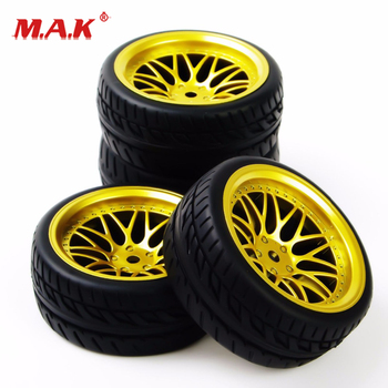 BBG PP0150 1:10 Scale Rubber Tires and Wheel Rims with Foam Insert and12mm Hex fit HSP HPI RC On Road Car Model Accessories image