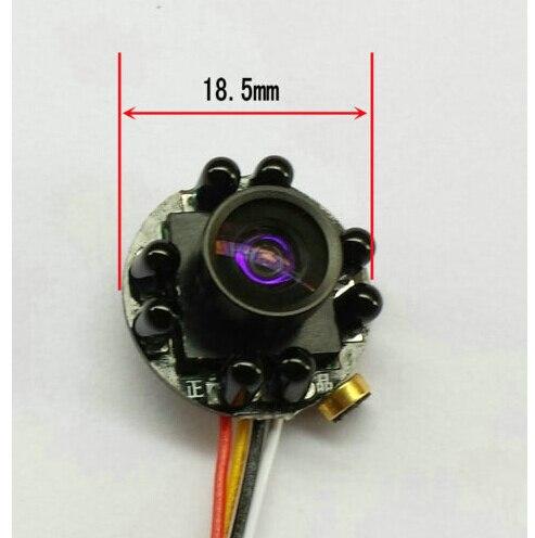 imágenes para 150 Grados de Ángulo Ancho Color Mic Audio Cctv Mini IR COMS 7070 480TVL Cámara de Vídeo
