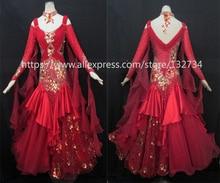 High Quality! rhinethone purple ballroom dance competition dresses ballroom dresses woman waltz dance dress standard Dress