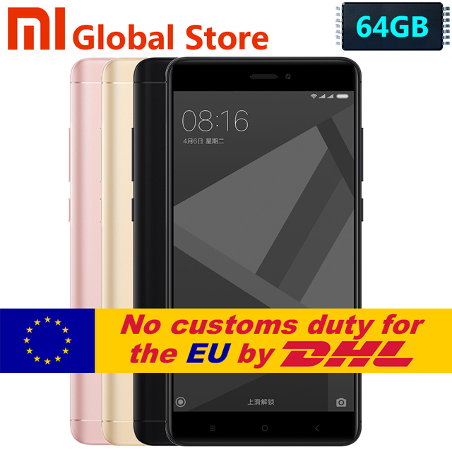 """Оригинальный Xiaomi Redmi Note 4x4 ГБ 64 ГБ Redmi Note 4 X Pro премьер мобильный телефон MTK helio X20 Дека Core 5.5 """"FHD Miui 8 13MP Камера"""