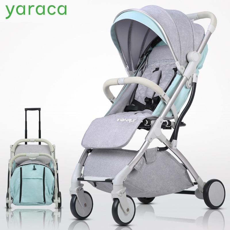 Bambino Passeggino Leggero Carrozzine Per Neonati Sedersi Disteso 2 in 1 Pieghevole Carrozzine Per Bambini Trolley Portatile Per I Viaggi