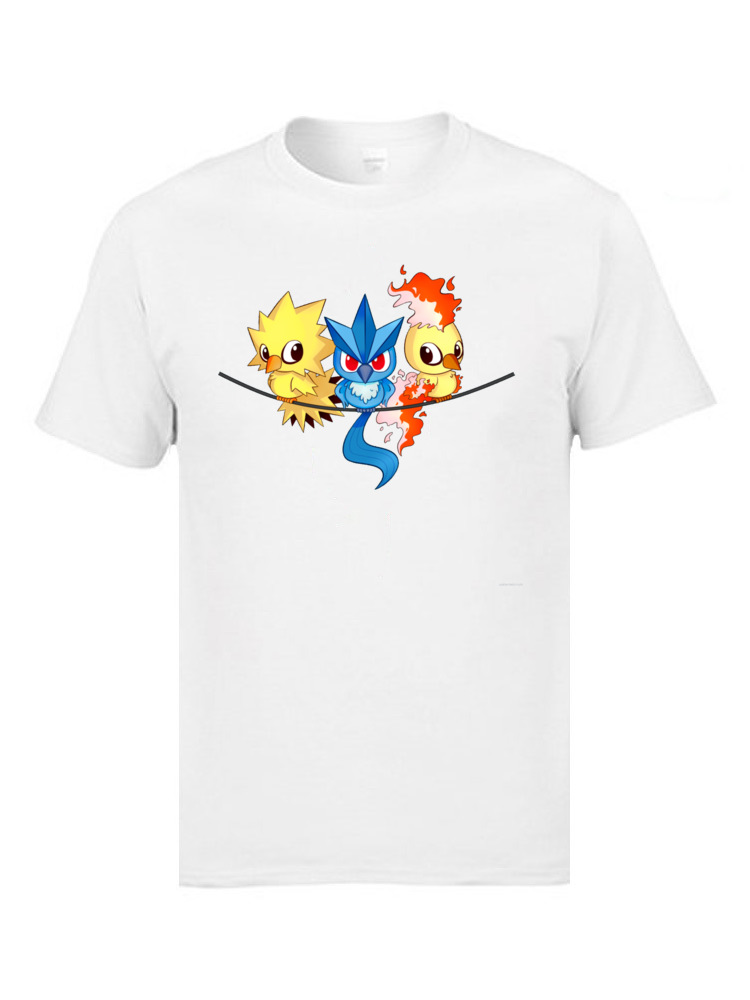 Pokemon Chick FEAR THE LEGENDS T Shirts O Neck All Cotton Man Top T-shirts Gift Tee Brand New Cartoon 90s