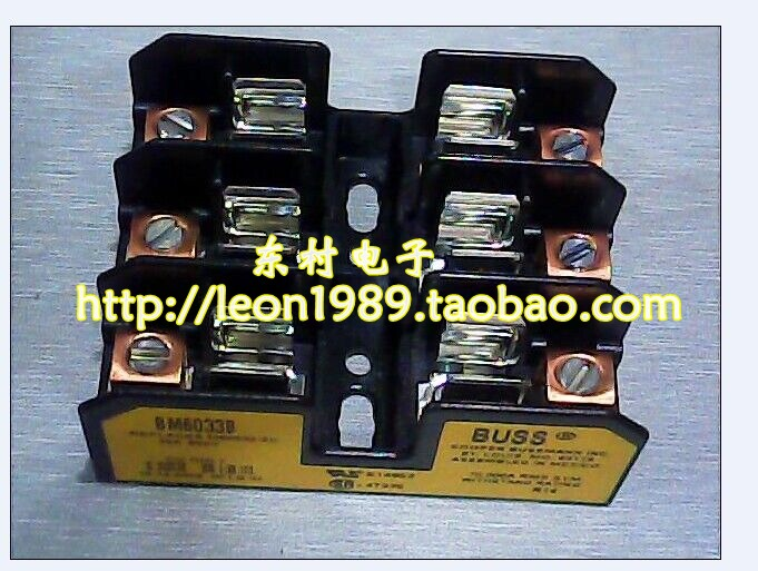 [SA]US imports BUSSMANN fuse holder BM6033B 30A 600V 10 times; 38mm fuse holder--3PCS/LOT us bussmann fuse holder jtn60060 35a 60a 600v 600vac fuse holder