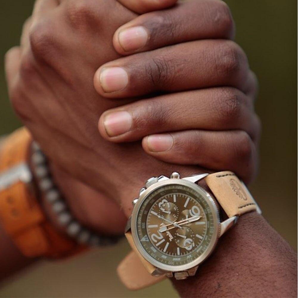 Timberland originele herenhorloges quartz lederen band roestvrij - Herenhorloges