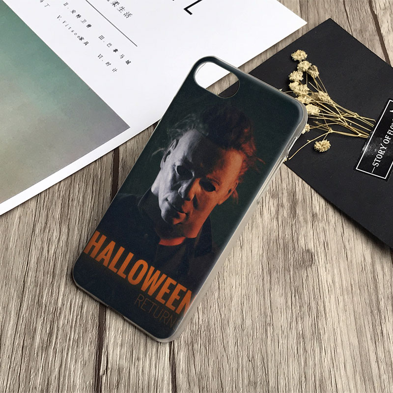 Michael Myers Halloween Logo Coque Phone Case Cover Shell For Apple iPhone X 8Plus 8 7Plus 7 6sPlus 6s 6Plus 6 5 5S SE