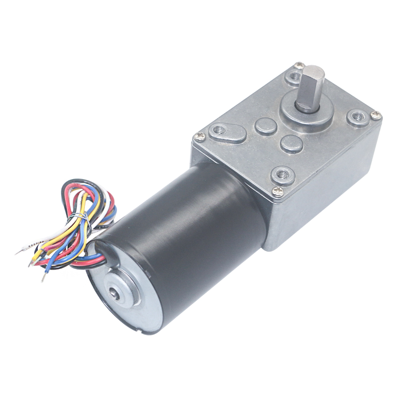 5840 3650 BLDC Worm Geared Motor 12V 24V DC High Power High Torque Silent Brushless Worm Gear Motor For Curtain Machine