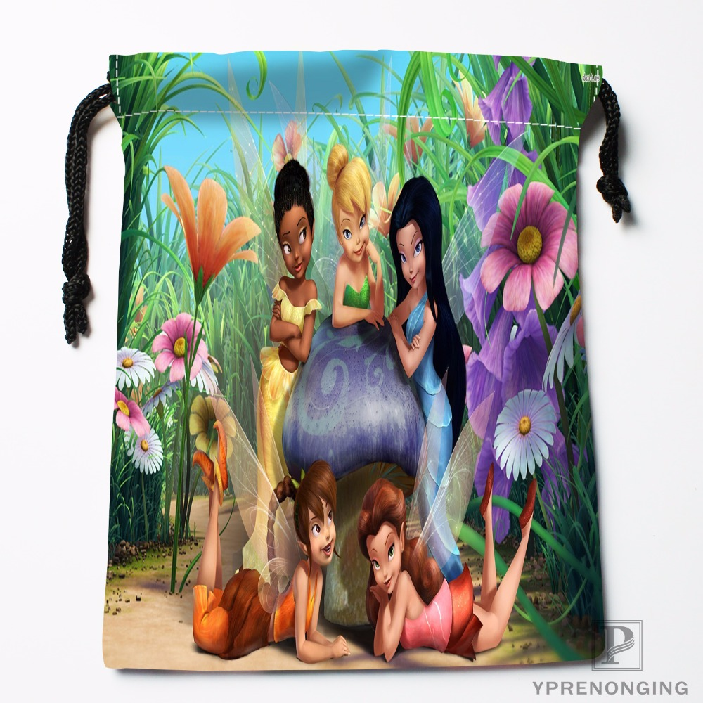 Custom Peter Pan And Tink House Drawstring Bags Printing Travel Storage Mini Pouch Swim Hiking Toy Bag Size 18x22cm#180412-11-92