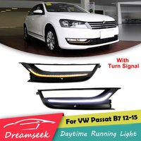 LED DRL for VW Passat B7 2012 2013 2014 2015 Daytime Running Light With Turn Signal Lamp NORTH AMERICA MODEL