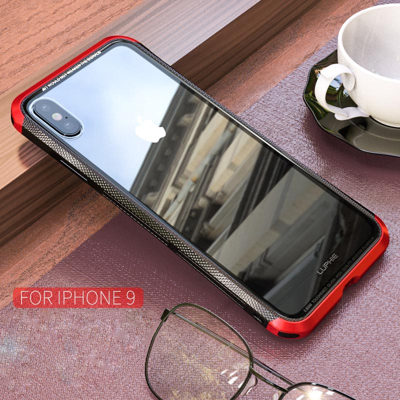 Metal Case For iPhone XR Case Slim Aluminum Bumper Plastics Non-slip Clear Glass Back Cover For iPhone XS MAX Case Luxury Ultra