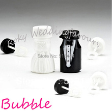 Free Shipping! 12pcs Novelty Bride and Groom Wedding Bubble Favors soap water Bottle for Wedding Event Party Table Supplies