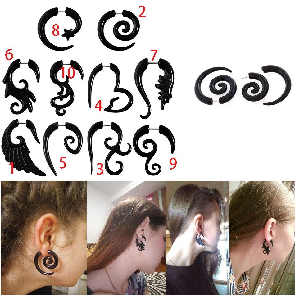 Piercing oreille FAUX BOUCHON Clous d/'oreilles boucles d/'OREILLES DOLLAR SIGNE